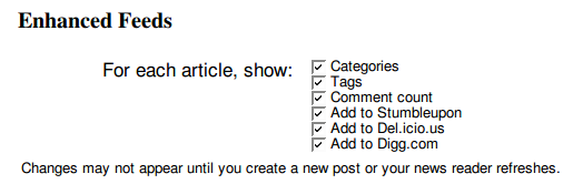 enhanced feed options