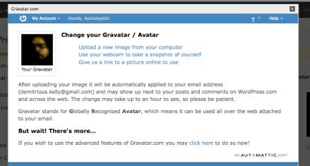 Gravatar.com page
