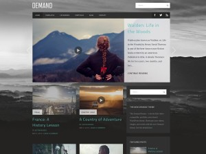 homepage of demand theme for wordpress.com