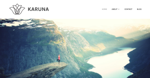 homepage of karuna theme for wordpress.com