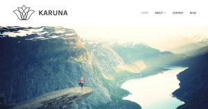 homepage of karuna theme for wordpress.com