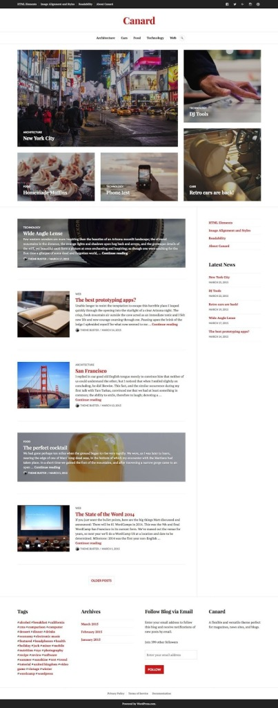 Canard WordPress.com Theme