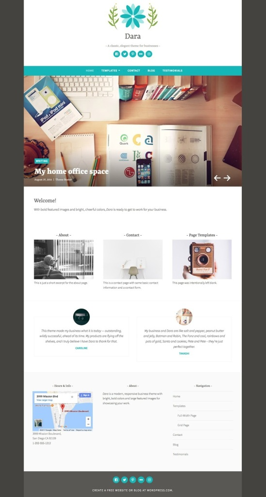 Dara WordPress.com Theme