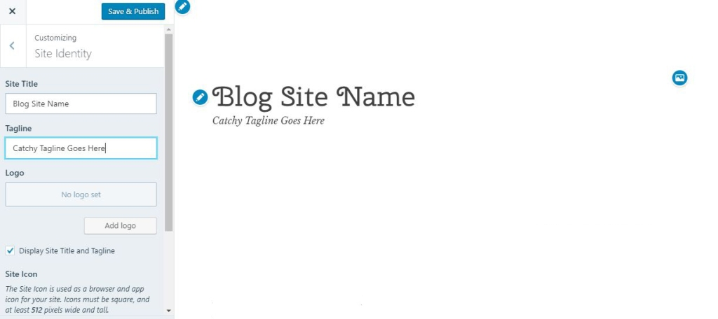 How to customize a header and tagline in WordPress.com