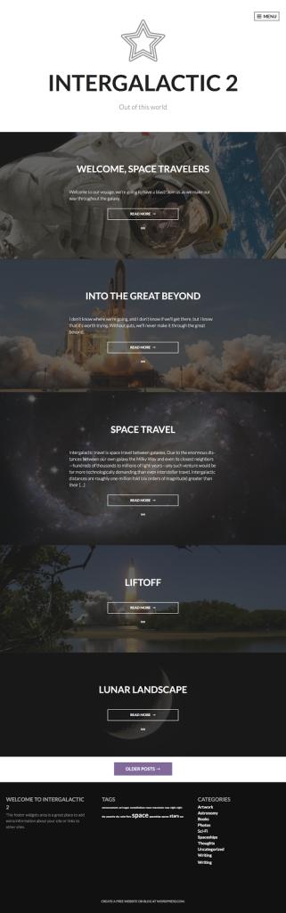 Intergalactic 2 WordPress.com Theme