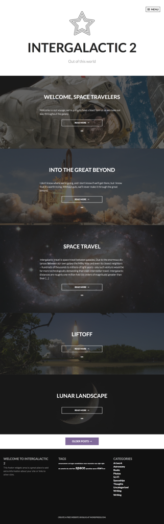 Intergalactic 2 WordPress.com Theme