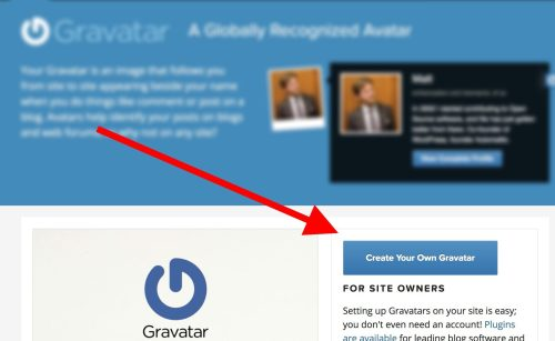 Link to create your own Gravatar