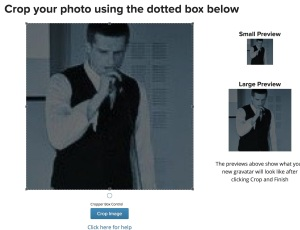 Adjust your user photo until it looks right