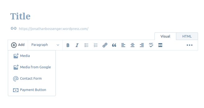 Adding a contact form to a page