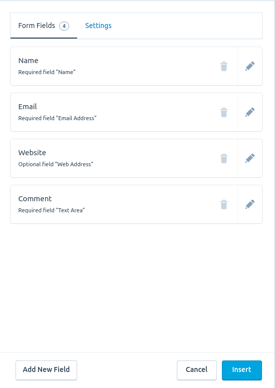 Creating a contact form on your site