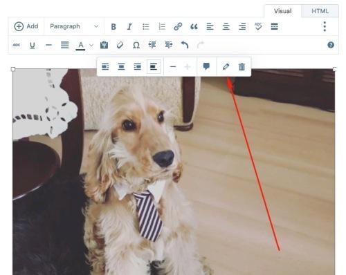 Click the pencil icon to edit