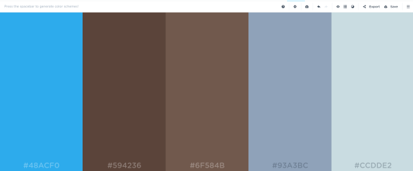 A color scheme generated by Coolers
