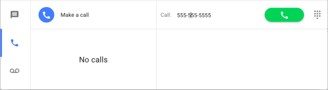 How to make a Google Voice call