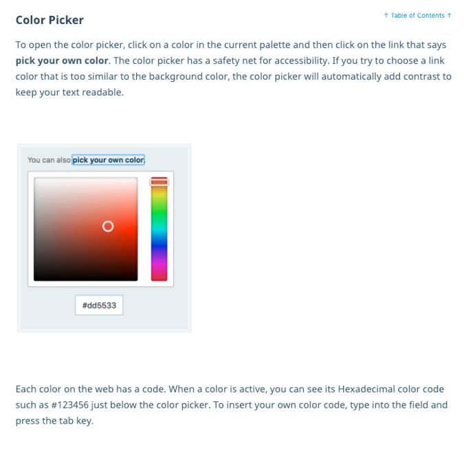 WordPress.com color picker