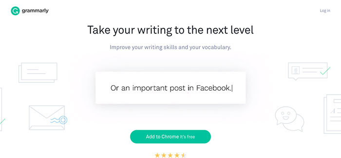 Online writing tool Grammarly