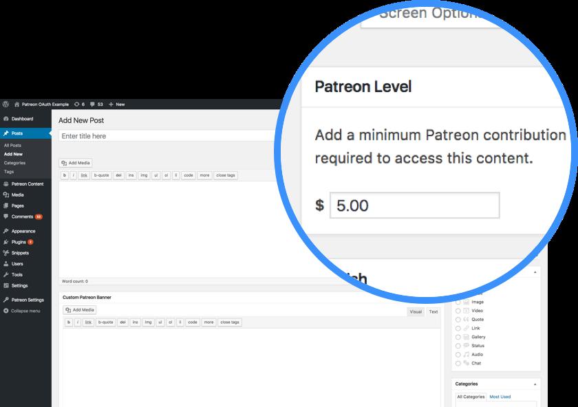 Patreon WordPress Plugin Patreon Level
