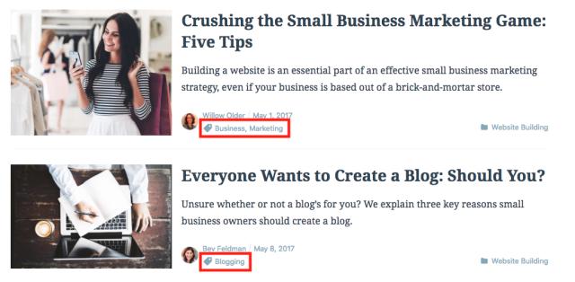 WordPress.com tags example