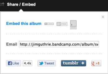 Bandcamp sharing
