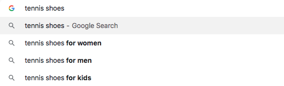 Google auto prediction