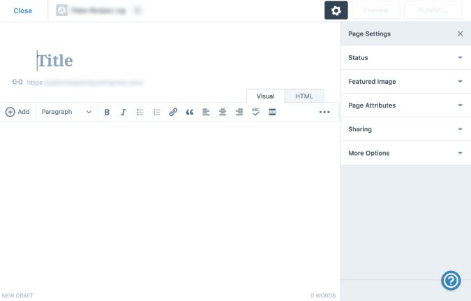 WordPress UI