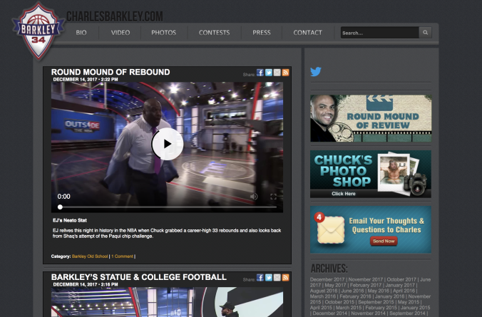 Charles Barkley uses WordPress to excite his audience