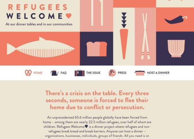 Refugees Welcome website