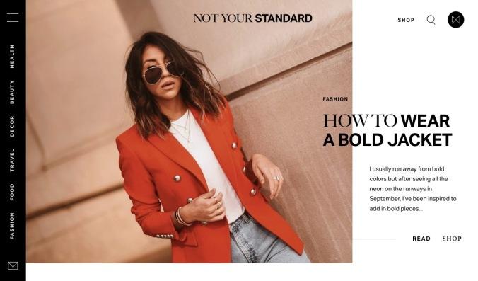 Not Your Standard website