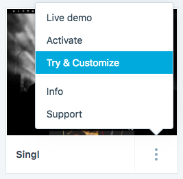 Try & Customize feature
