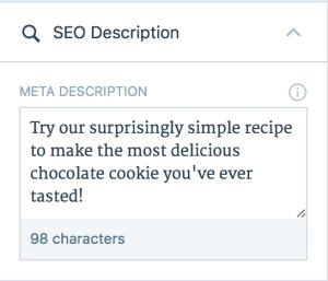 Example of a meta description