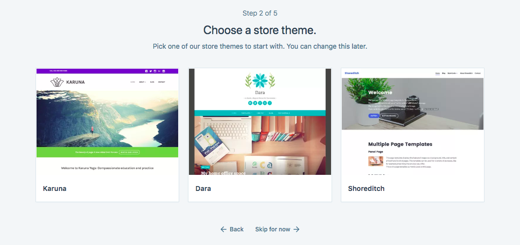 choose a theme for your WordPress online store
