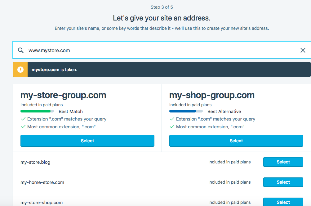 Choose the URL of your WordPress online store