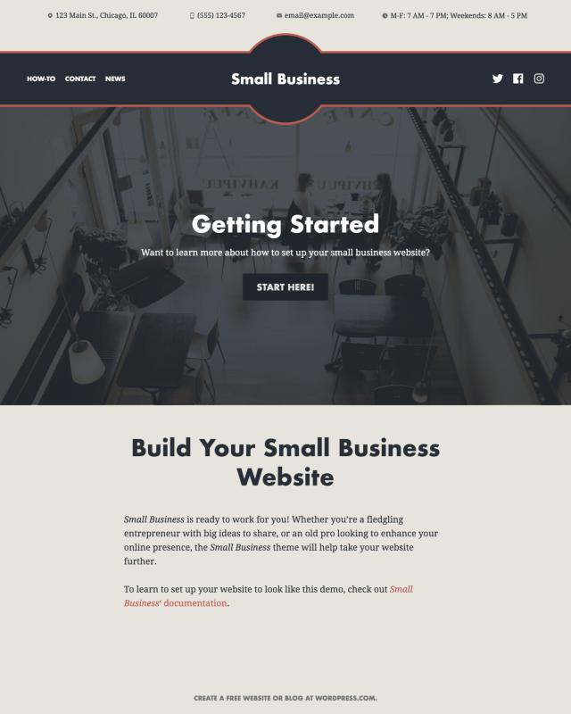 Small Business WordPress.com Theme