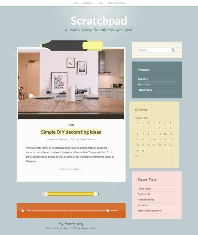 Scratchpad WordPress.com theme