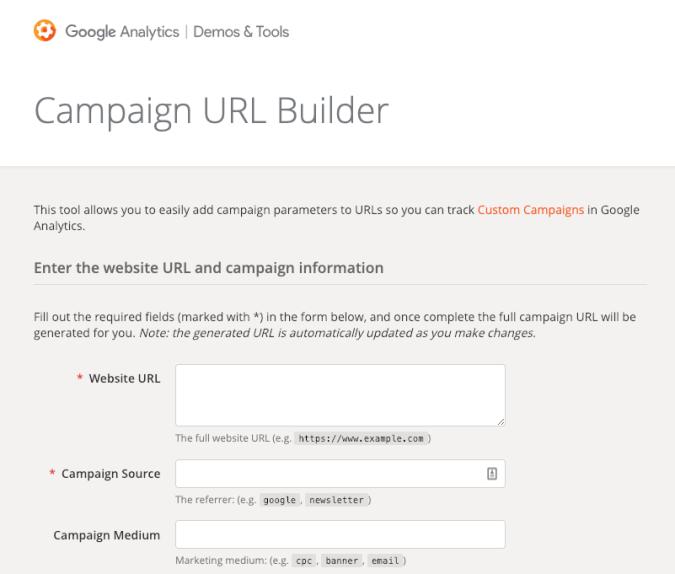 Google Analytics, Campaign URL Builder