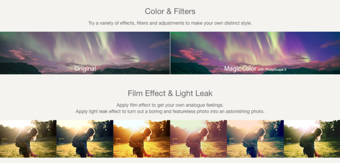 PhotoScape X Photo Filter Example