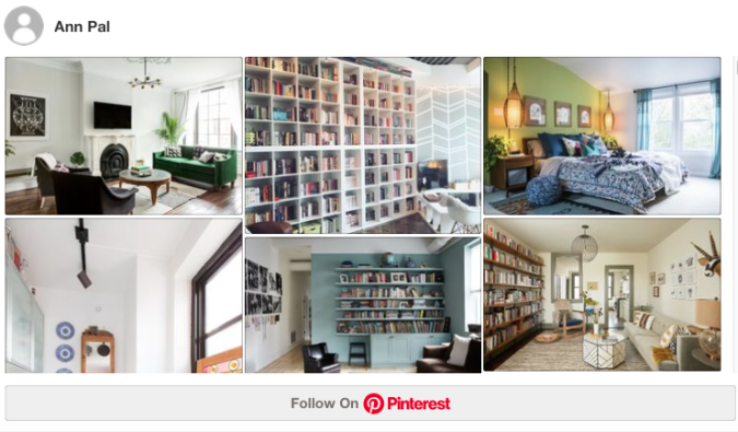 WordPress.com Pinterest example