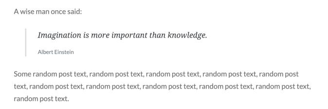 Quote block example