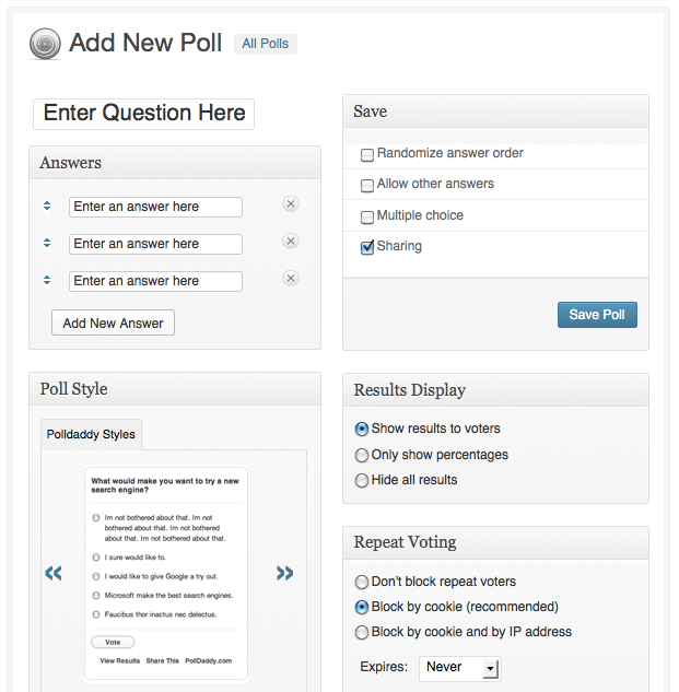 WordPress.com Poll Example