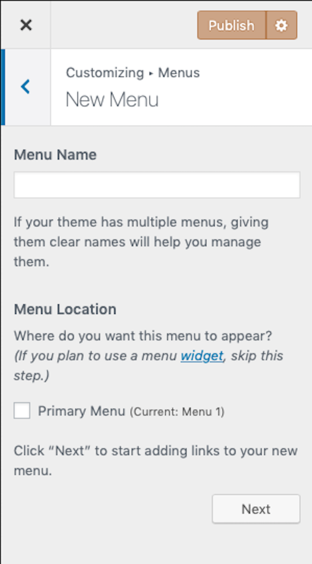 add-wordpress-menus