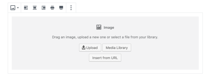 Image block for adding images