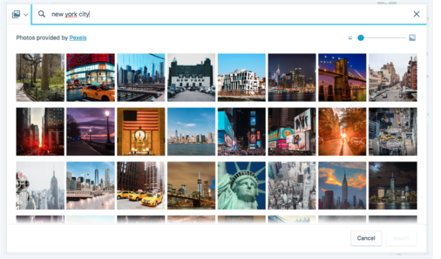 WordPress.com free photo library