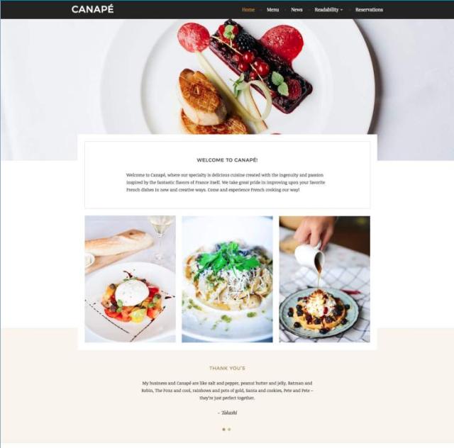 WordPress.com Canape theme