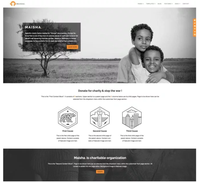 WordPress.com Maisha theme