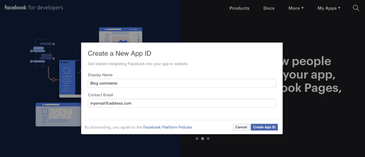 Create New App ID