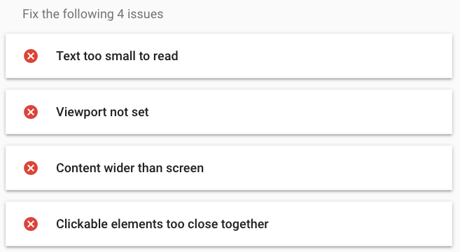 Google Mobile Friendly Test Results