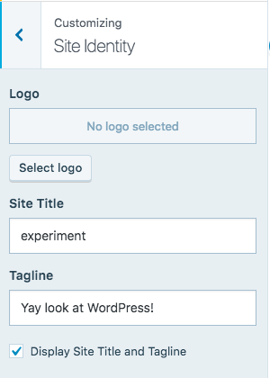 WordPress.com site identity