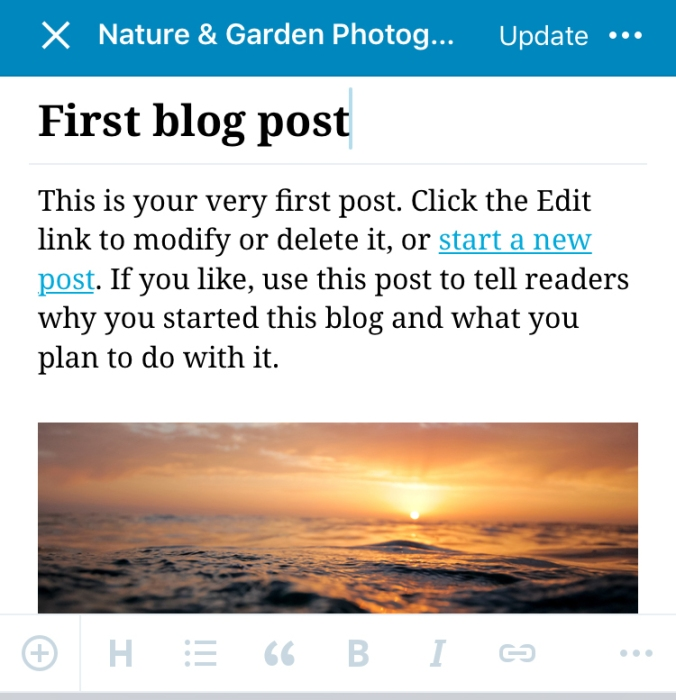 Creating new blog posts with the WordPress.com mobile app