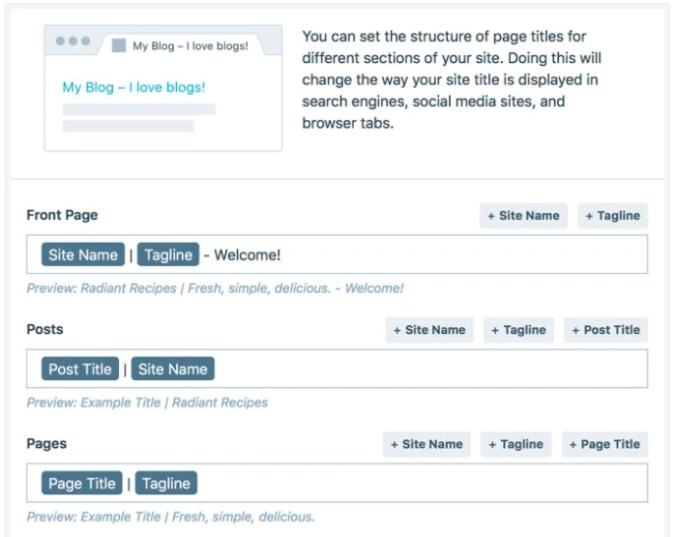 WordPress.com custom title format editor