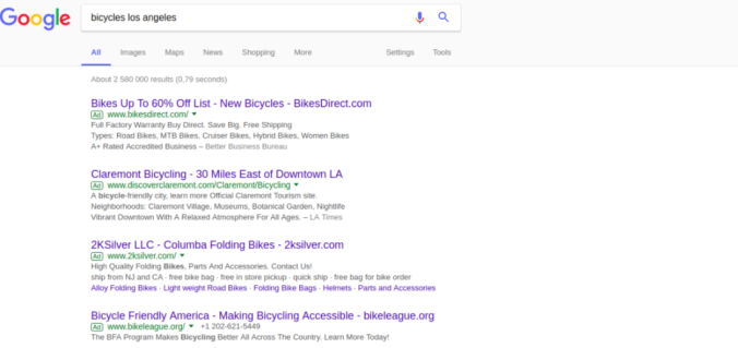Google Search with AdWords
