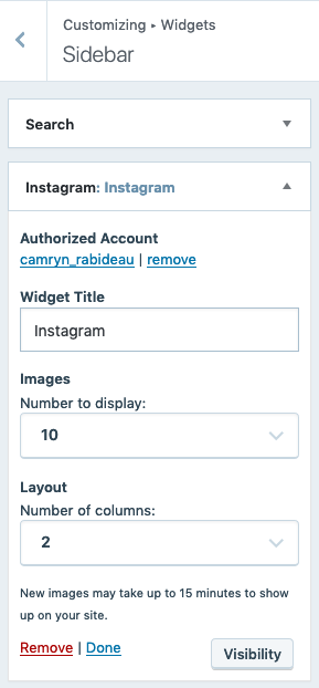 WordPress.com Instagram Widget